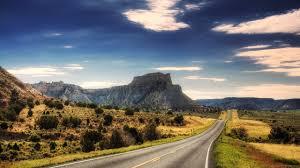 horizontal road landscape wallpaper