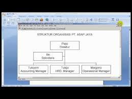 membuat struktur organisasi yang menarik cara membuat struktur organisasi pada mw word youtube