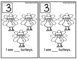 turkey time math packet thanksgiving worksheets and centers tpt