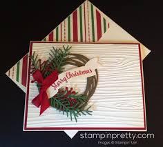 holiday wreath christmas card idea mary fish stampin u0027 pretty
