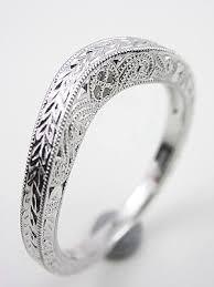 vintage filigree wedding bands vintage style wedding ring with carved design rg 2802wbr