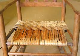 Chair Caning Instructions Weaving A Chair Seat With Hickory Bark