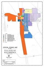 Ohio City Map Village Of Walbridge Official Zoning Map