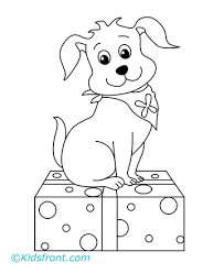 coloring pages puppies print colored image puppy coloring