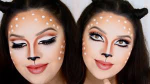 last minute halloween deer makeup youtube
