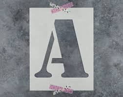 stencil letters etsy