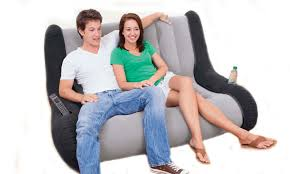 Inflatable Chair And Ottoman by Inflatable Furniture Inflatable Chair And Couch At Airbeds4less Com