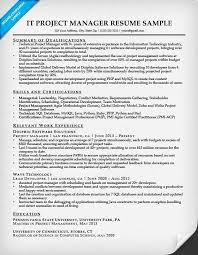 project manager resume project manager resume sle writing tips resume companion
