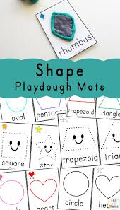 free printable shape playdough mats shapes playdough mats fun with mama
