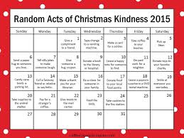 countdown to christmas with the 2015 random acts of kindness