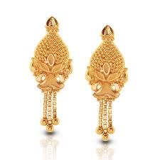 gold earings esita beaded gold drop earrings india online caratlane