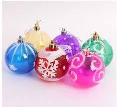 60p christmas gift pendant painted transparent ball 6cm christmas