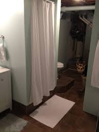 bathroom remodel raised drainage platform fireside dreamers