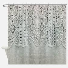 grey shabby chic shower curtains cafepress