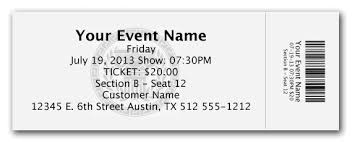 ticket template free download free event ticket template word