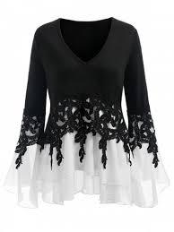 womens black blouse plus size blouses s white lace black denim blouse sale