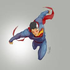 superman into battle sketch wip u2014 geektyrant