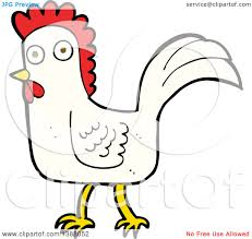 clipart of a cartoon rooster chicken royalty free vector