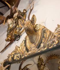 antique habsburg antler mirror with roe trophy u0026 original prussian