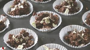easy chocolate u0026 marshmallow rice krispie treats recipe youtube