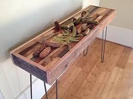 Farmhouse Console Table Small Barnwood Mosaic Rustic Wood Farmhouse Console Table