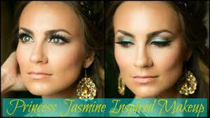 princess jasmine halloween makeup tutorial youtube