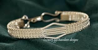 silver woven bracelet images Sterling silver woven wire mini chevron bangle jpg