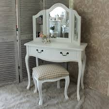 dressing table triple mirror and stool bedroom furniture set