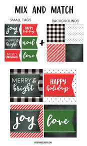 free printable christmas gift tags in mix u0026 match colors and sizes