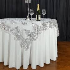 silver lace table overlay swirl sequin lace 72 x 72 overlay