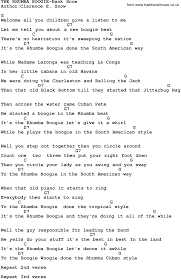 country music the rhumba boogie hank snow lyrics and chords