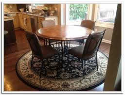 round rug for under kitchen table area rug under round dining table size ideal area rug under round