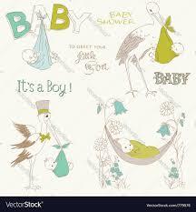 vintage baby boy shower royalty free vector image