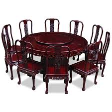rosewood dining room furniture rosewood imperial dragon design round dining table with 10 chairs