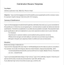 combination resume template example of functional resume free