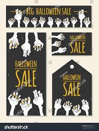 funny halloween sale design cartoon zombies stock vector 328654157
