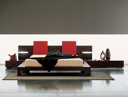 Modern King Platform Bed Modern Platform Bed Black Solid Wood Low Profile King Bed Frame