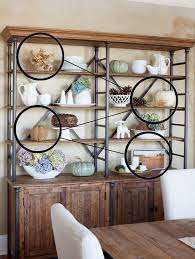 Staggered Bookshelves by How To Decorate Shelves For Fall Or Anytime Really The