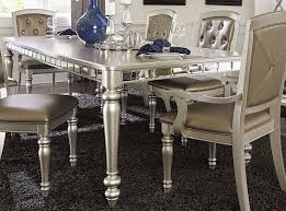 orsina silver extendable dining table from homelegance coleman
