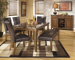 Dining Room Sets With Benches Lacey Rectangular Dining Room Table 2 Side Chairs U0026 Large Uph