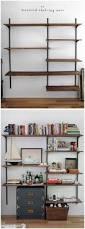 bamboo shelf wall unit