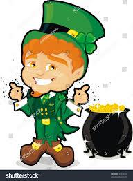 st patrick leprechaun pot gold stock vector 32434915 shutterstock
