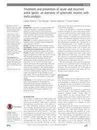 treatment and prevention of acute and recurrent ankle sprain an