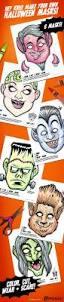 6 monster coloring masks kids paper halloween masks diy