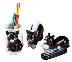 Batman Desk Accessories Cat Shaped Desk Accessories Set Of 3 Office Products