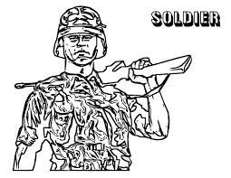 army soldier coloring pages military army shooting shotgun coloring pages military army