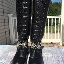 womens boots size 11w 64 born shoes s born poly distressed leather boots sz