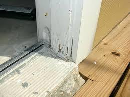 Replacing An Exterior Door Threshold Replacing Exterior Door Jamb And Threshold Door Sill Threshold