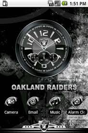 clock themes for android mobile oakland raiders android themes android mobile wallpapers apps