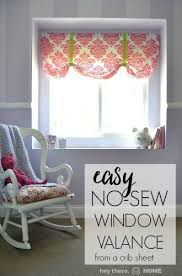 Make Curtains Out Of Sheets Best 25 No Sew Valance Ideas On Pinterest Bathroom Valance